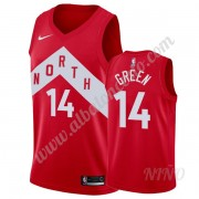 Camisetas NBA Niños Toronto Raptors 2019-20 Danny Green 14# Rojo Earned Edition Swingman..