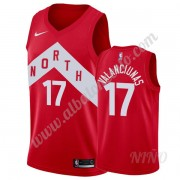 Camisetas NBA Niños Toronto Raptors 2019-20 Jonas Valanciunas 17# Rojo Earned Edition Swingman..