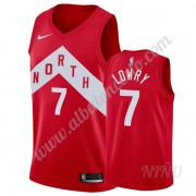 Camisetas NBA Niños Toronto Raptors 2019-20 Kyle Lowry 7# Rojo Earned Edition Swingman..