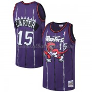 Camisetas Baloncesto NBA Toronto Raptors Mens 1998-99 Vince Carter 15# Purple Hardwood Classics..