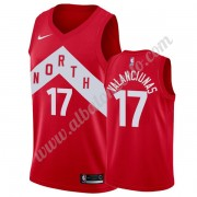 Camisetas Baloncesto NBA Toronto Raptors 2019-20 Jonas Valanciunas 17# Rojo Earned Edition Swingman..