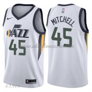 Camisetas Baloncesto Niños Utah Jazz 2018 Donovan Mitchell 45# Association Edition..