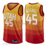 Camisetas Baloncesto Niños Utah Jazz 2018 Donovan Mitchell 45# City Edition..