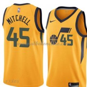 Camisetas Baloncesto Niños Utah Jazz 2018 Donovan Mitchell 45# Statement Edition..