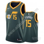 Camisetas NBA Niños Utah Jazz 2019-20 Derrick Favors 15# Verde Earned Edition Swingman..