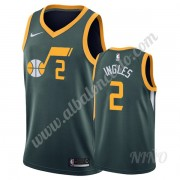 Camisetas NBA Niños Utah Jazz 2019-20 Joe Ingles 2# Verde Earned Edition Swingman..