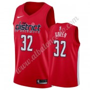 Camisetas Baloncesto NBA Washington Wizards 2019-20 Jeff Verde 32# Rojo Earned Edition Swingman..