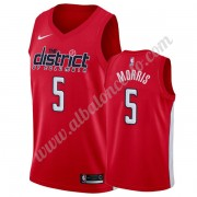 Camisetas Baloncesto NBA Washington Wizards 2019-20 Markieff Morris 5# Rojo Earned Edition Swingman..