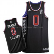 West All Star Game 2015 Damian Lillard 0# NBA Equipaciones Baloncesto..