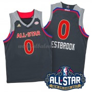 West All Star Game 2017 Russell Westbrook 0# NBA Equipaciones Baloncesto..