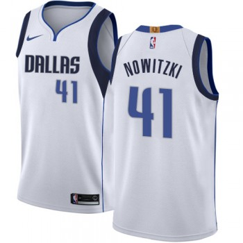 Camisetas Baloncesto Niños Dallas Mavericks 2018 Dirk Nowitzki 41# Association Edition