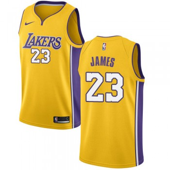 Camisetas Baloncesto NBA Los Angeles Lakers 2018 LeBron James 23# Icon Edition