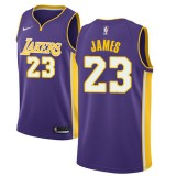 Camisetas Baloncesto NBA Los Angeles Lakers 2018 LeBron James 23# Statement Edition