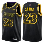 Camisetas Baloncesto Niños Los Angeles Lakers 2018 LeBron James 23#  City Edition..