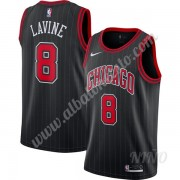 Camisetas NBA Niños Chicago Bulls 2019-20 Zach Lavine 8# Negro Finished Statement Edition Swingman..