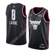 Camisetas NBA Baratas Chicago Bulls 2019 Zach Lavine 8# Negro All Star Game Swingman..