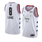 Camisetas NBA Baratas Chicago Bulls 2019 Zach Lavine 8# Blanco All Star Game Swingman..