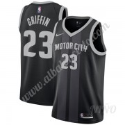 Camisetas NBA Niños Detroit Pistons 2019-20 Blake Griffin 23# Negro City Edition Swingman..
