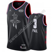 Camisetas NBA Baratas Houston Rockets 2019 Chris Paul 3# Negro All Star Game Swingman..