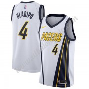 Camisetas Baloncesto NBA Indiana Pacers 2019-20 Victor Oladipo 4# Blanco Earned Edition Swingman..