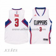 Camisetas NBA Baratas Los Angeles Clippers Niños 2015-16 Chris Paul 3# Home..