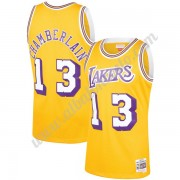 Camisetas Baloncesto NBA Los Angeles Lakers 1971-72 Wilt Chamberlain 13# Oro Hardwood Classics Swing..