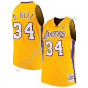 Camisetas Baloncesto NBA Los Angeles Lakers 1999-00 Shaquille O'Neal 34# Oro Hardwood Classics Swing..