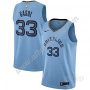 Camisetas NBA Niños Memphis Grizzlies 2019-20 Marc Gasol 33# Azul claro Statement Edition Swingman..