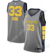 Camisetas NBA Niños Memphis Grizzlies 2019-20 Marc Gasol 33# Gris City Edition Swingman..