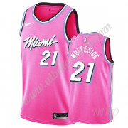 Camisetas NBA Niños Miami Heat 2019-20 Hassan Whiteside 21# Rosado Earned Edition Swingman..