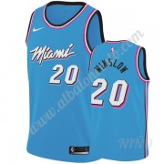 Camisetas NBA Niños Miami Heat 2019-20 Justise Winslow 20# Azul City Edition Swingman..