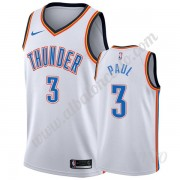 Camisetas NBA Niños Oklahoma City Thunder 2019-20 Chris Paul 3# Blanco Association Edition Swingman..