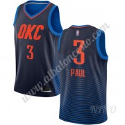 Camisetas NBA Niños Oklahoma City Thunder 2019-20 Chris Paul 3# Azul Statement Edition Swingman..