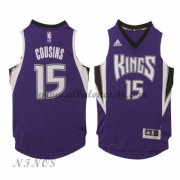 Camisetas Baloncesto Niños Sacramento Kings 2015-16 DeMarcus Cousins 15# NBA Road..