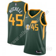 Camisetas NBA Niños Utah Jazz 2019-20 Donovan Mitchell 45# Verde Earned Edition Swingman..