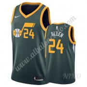 Camisetas NBA Niños Utah Jazz 2019-20 Grisson Allen 24# Verde Earned Edition Swingman..