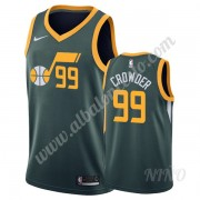 Camisetas NBA Niños Utah Jazz 2019-20 Jae Crowder 99# Verde Earned Edition Swingman..