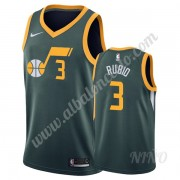 Camisetas NBA Niños Utah Jazz 2019-20 Ricky Rubio 3# Verde Earned Edition Swingman..