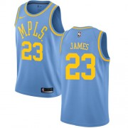 Camisetas Baloncesto NBA Los Angeles Lakers 2018 LeBron James 23# Light Blue Hardwood Classics..
